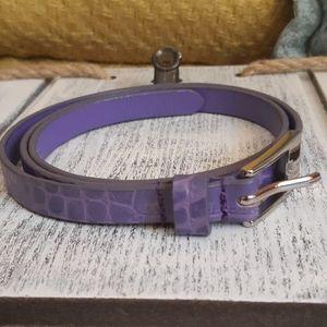 Danier Skinny Leather Belt